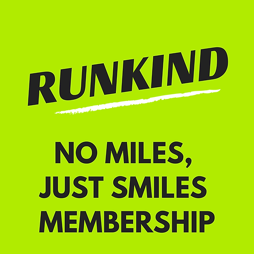 No Miles, Just Smiles RunKind Annual Membership