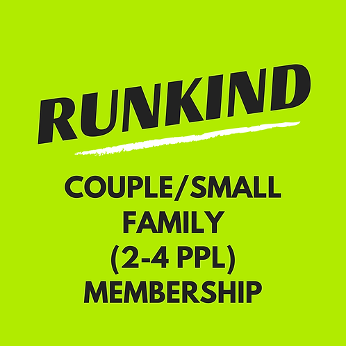 Couple/Small Family RunKind Annual Membership