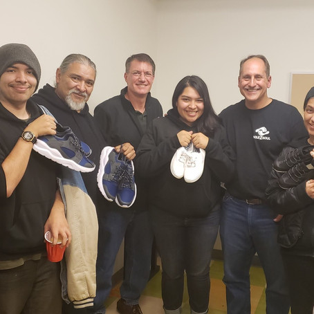 SHOES FOR THE HOMELESS IN SAN JOSE!