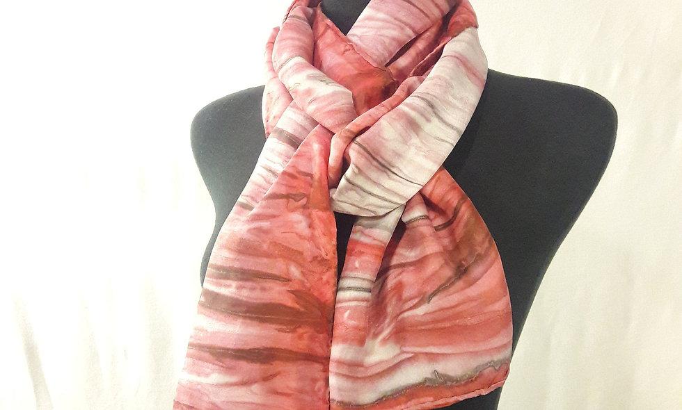 Handpainted 100% silk scarf