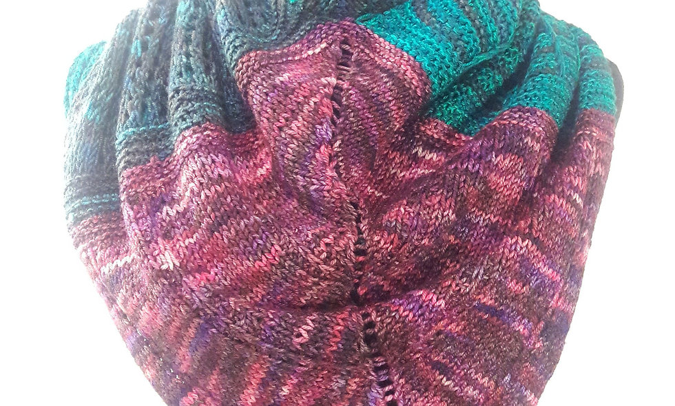 Jellyroll cowl/poncho-lette