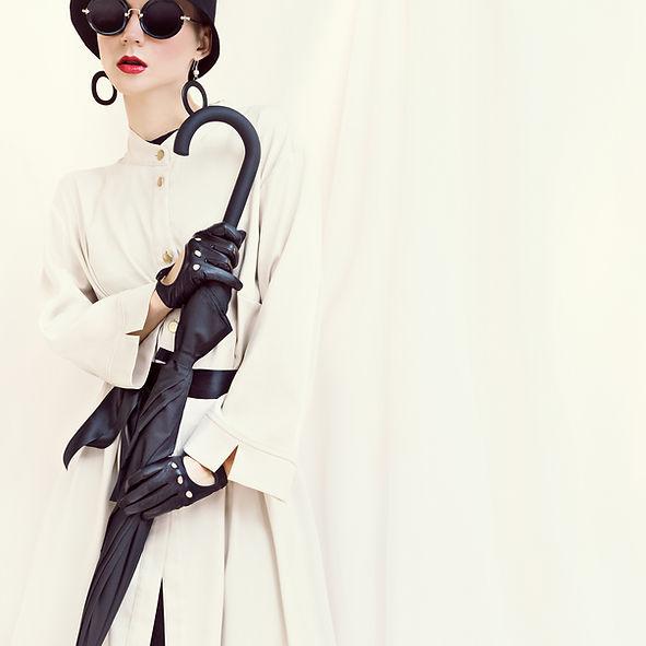 白と黒のファッション
