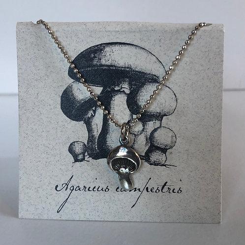 Sterling Sliver Mushroom Necklace