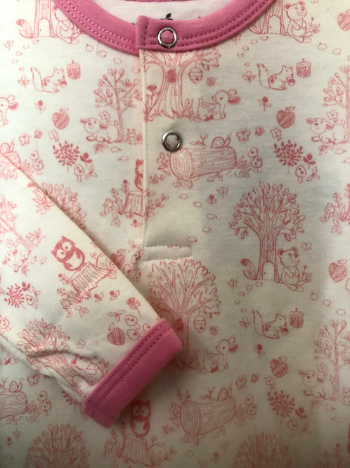 Pink Woodland Print Sleep Gown