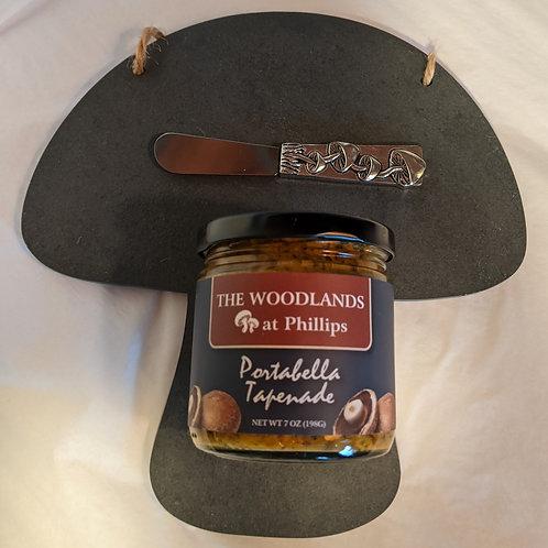 Slate Mushroom Cheese Board gift set