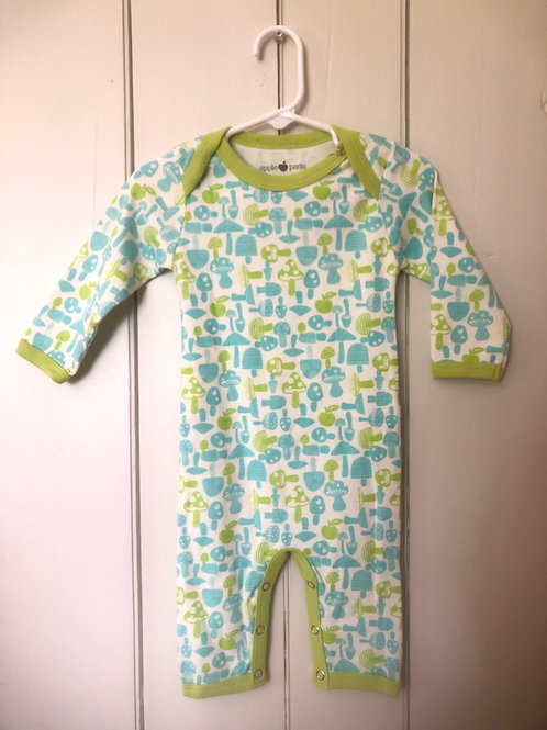 Blue & Green Footless Baby Outfit