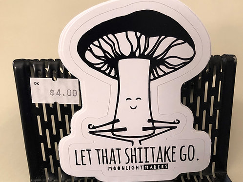 Let that shiitake Go sticker
