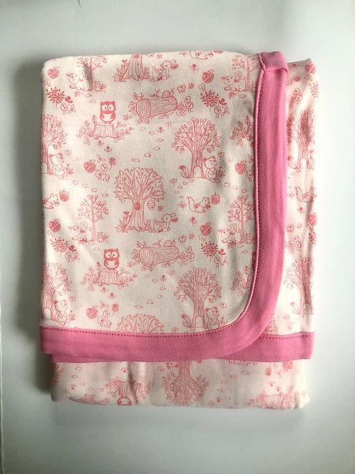 Pink Woodlands Print Blanket