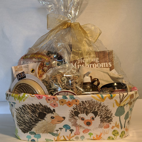 Mother's Day Mushroom Hedgehog Basket