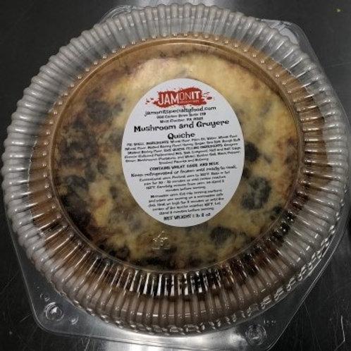 """JamOnIt 9"""" Quiche Mushroom & Gruyere Cheese"""