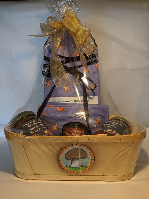 Mother's Day Mushroom Basket with Apron