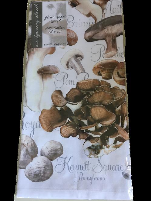 Mushroom Print Kitchen Towel