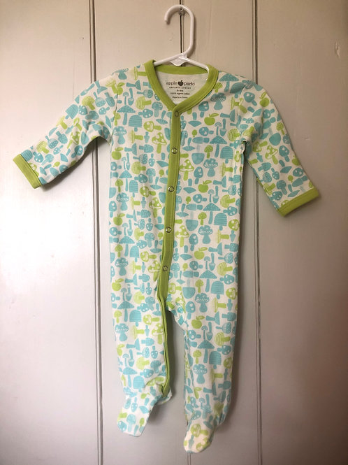 Blue & Green Footed Baby Outfit  3-6 months