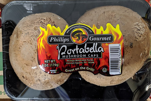 Portabella mushroom caps  6 oz.