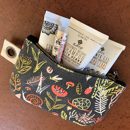 Travel Set in a beautiful canvas pouch