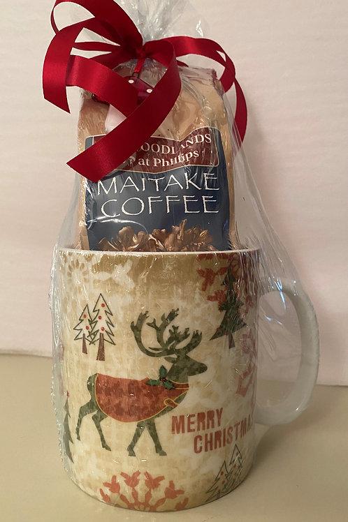 Maitake Coffee Christmas Mug