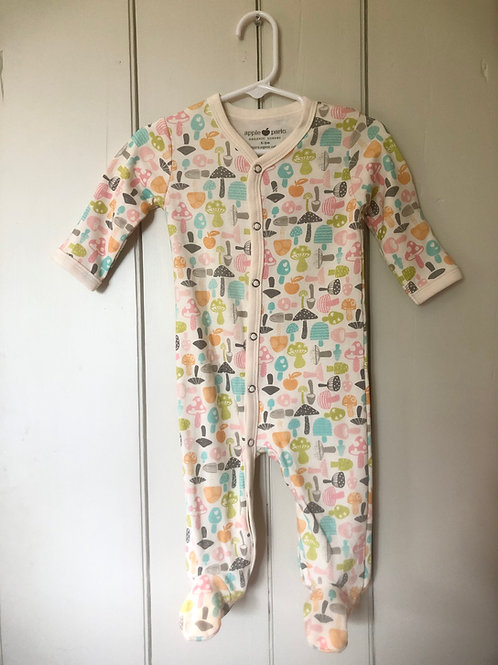 Multi Colored footed Baby outfit