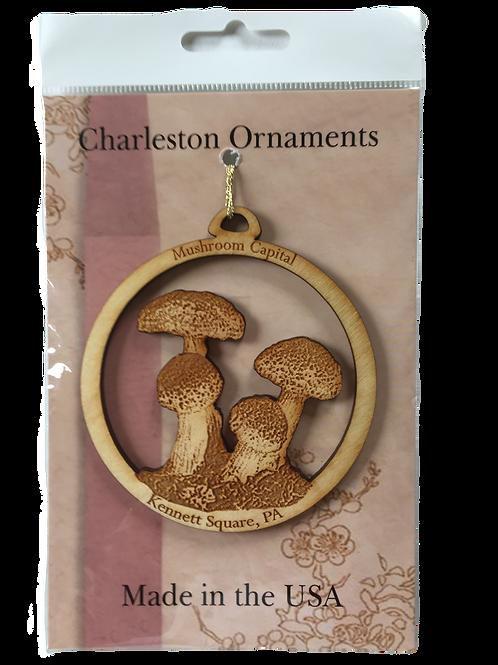 Kennett Square Mushroom Wooden Ornament
