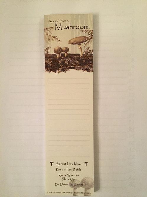 Advice from a Mushroom   Magnetic List pad