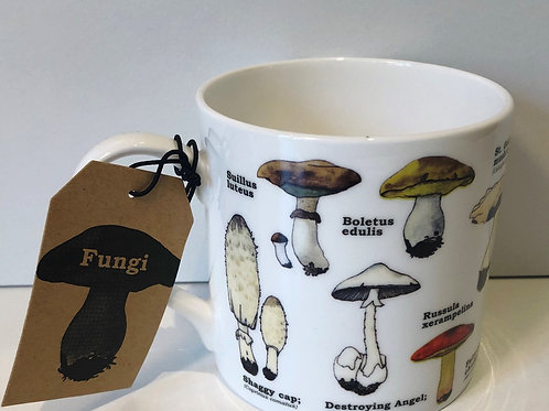 China Mushroom Print Mug