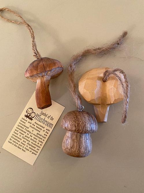 Wooden Ornament Trio