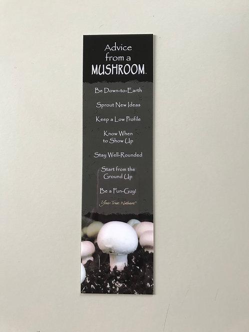 Advise from a Mushroom Book Mark