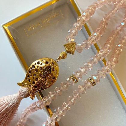 Pink Crystal Prayer Beads, Tasbeeh, Islamic Gift, Free Gift BOX