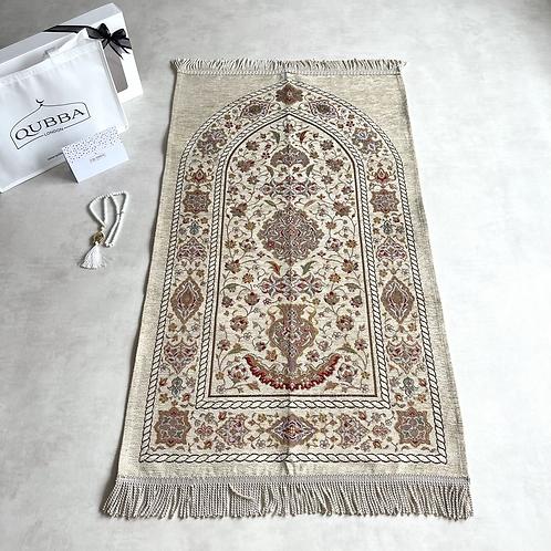 QUBBA Luxury Prayer Mat Gift Set. The Perfect Islamic gift.