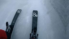 Skies on ice, POV. Shot by Tjark Lienke.