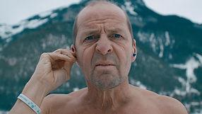 Iceswimmer Christoph Wandratsch. Shot by Tjark Lienke.