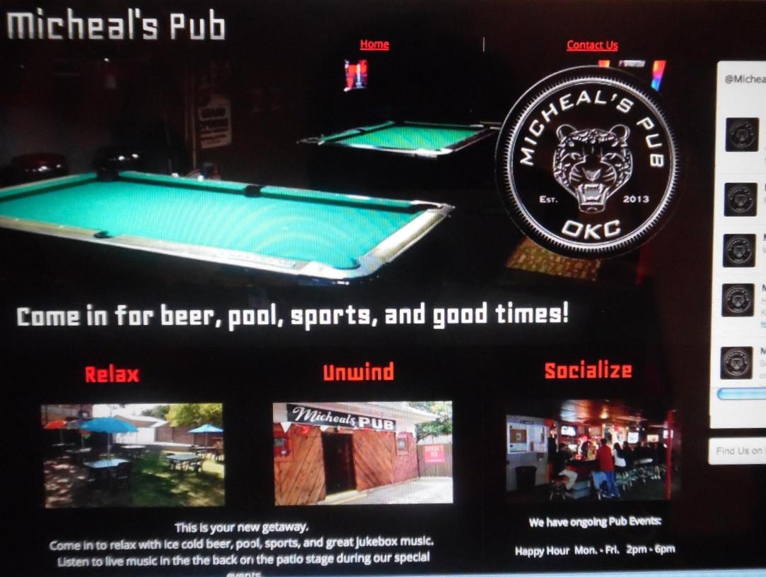 Michael's Pub Website