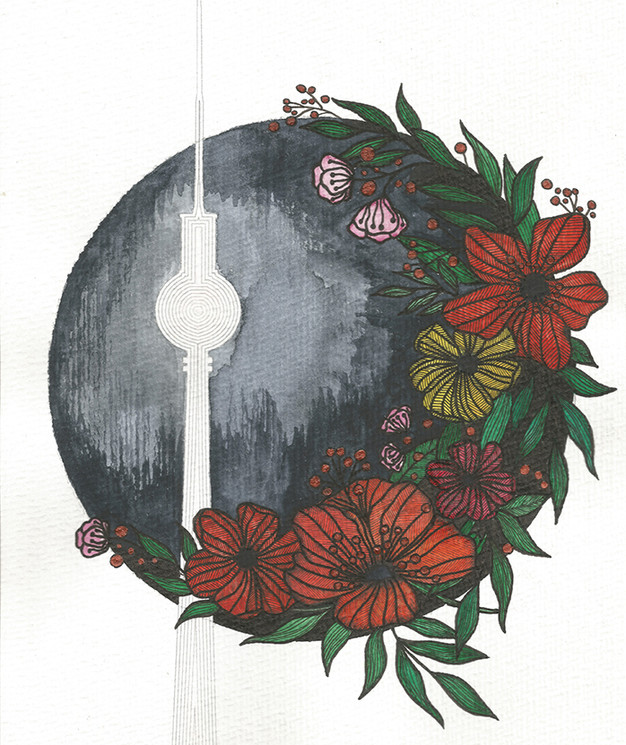 """Berlin TV Tower Floral"""