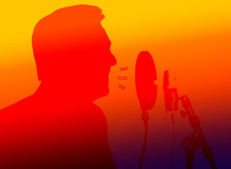 Ruídos de boca durante a gravação