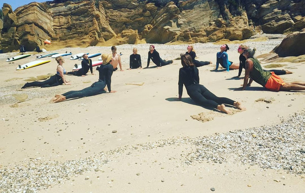 Yoga at the beach