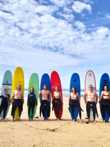 Surfing with friends in Portugal with Alentejo S