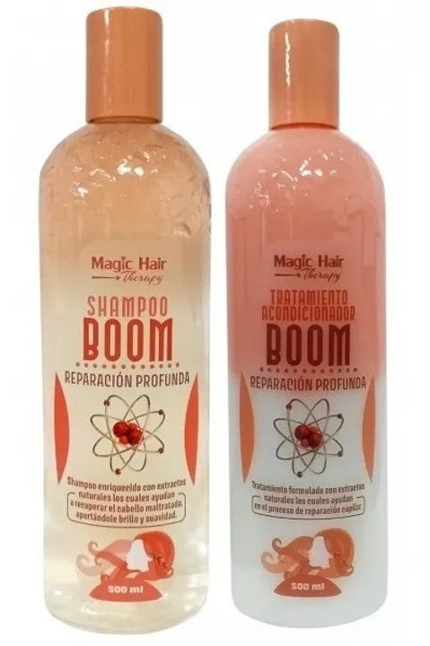 Kit Shampoo + Acondicionador Reparador Boom