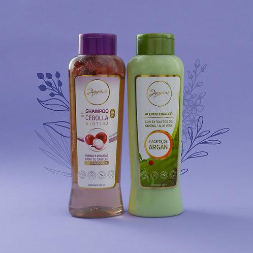 Kit Duo Shampoo con cebolla y Acondicionador