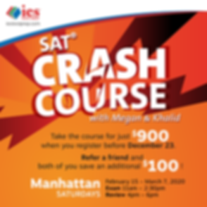 SAT courses for 2020 school year