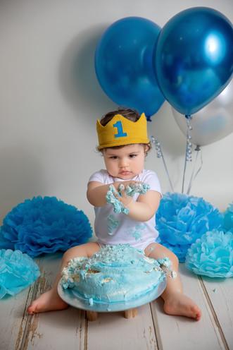 Kinderfotoshooting cake smash shooting