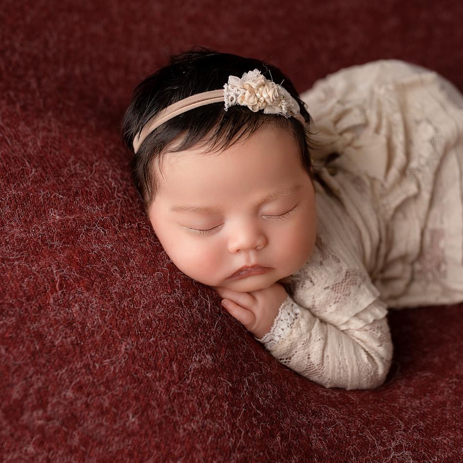 Baby mädchen schläft