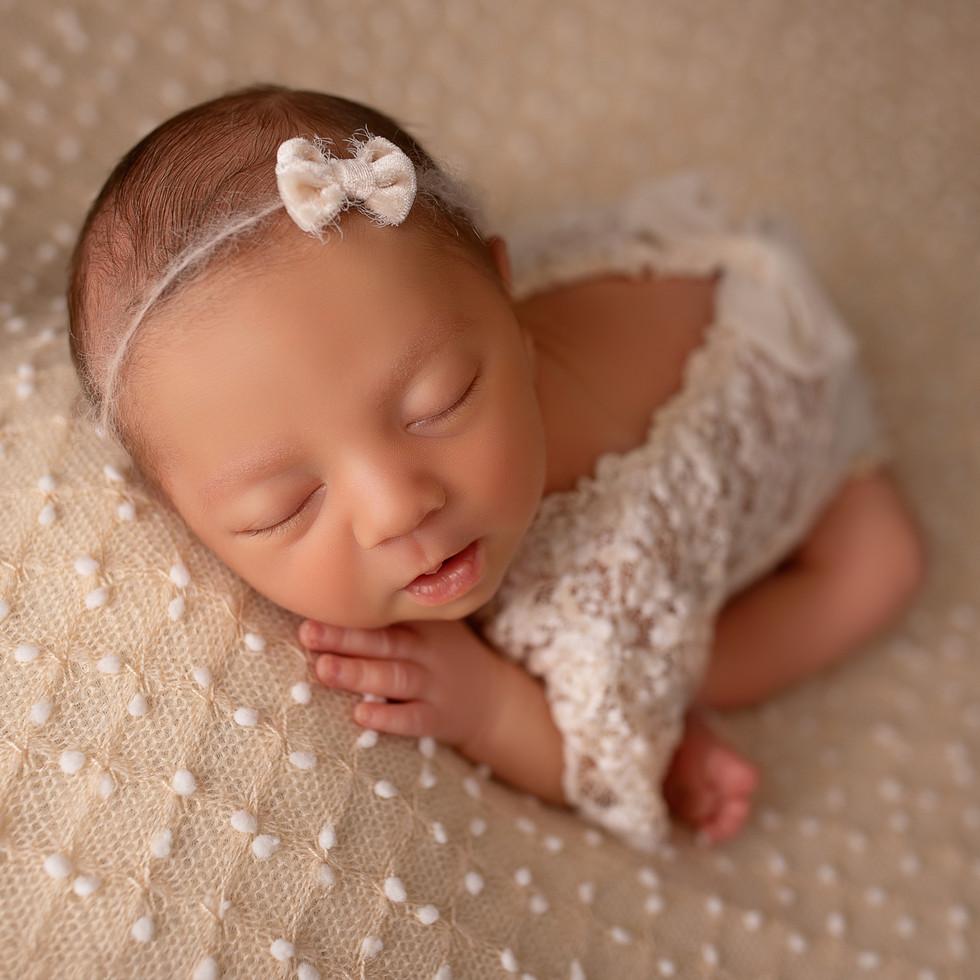 Baby mädchen im schlaf