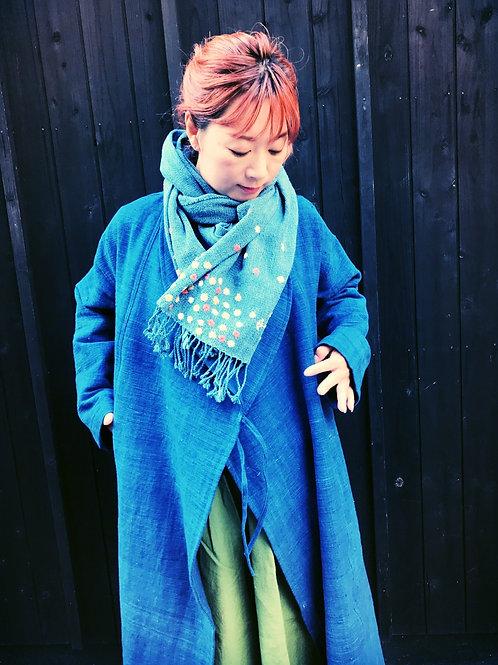 カレンの藍染手織りショール