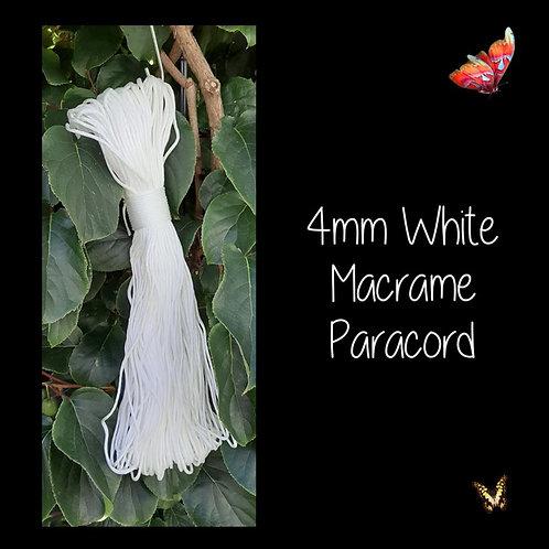 4mm White Macrame Paracord