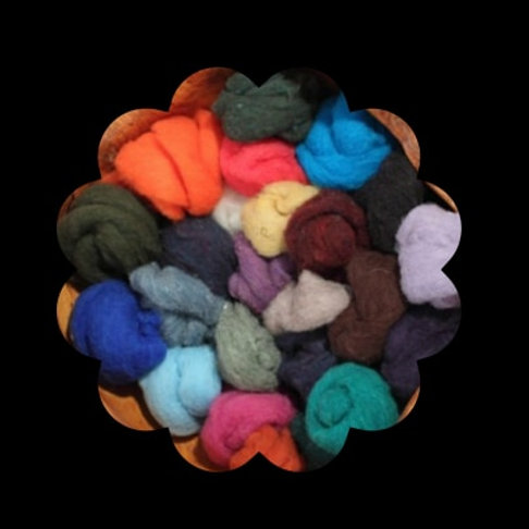 Dorset Wool Roving (1lb. mixed bag)