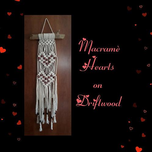 Macrame Hearts Instructional Video & Supply Kit