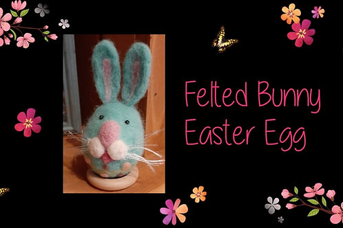 Felted Bunny Easter Egg Instructional Video & Supply Kit