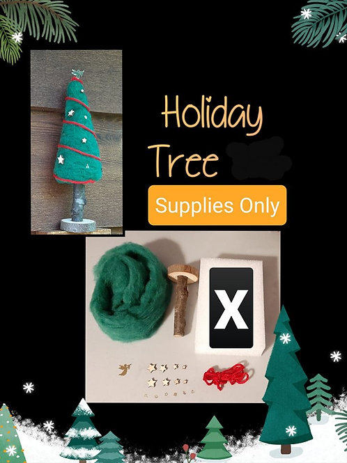 Felted Holiday Tree (Supplies Only)