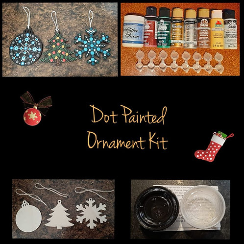 Dot Painted Christmas Ornament Kit