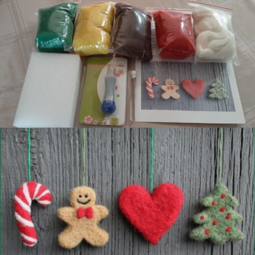 Cookie Cutter Felted Ornament Kit