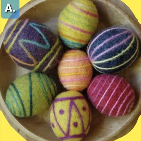 Felted Easter Egg Kit